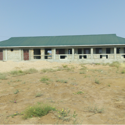 The Sister's Convent under construction which can accommodate at least 4 sisters. It is not complete. The sisters are currently residing in a small convent which was used as a class room for ECD by the parish before the school began.