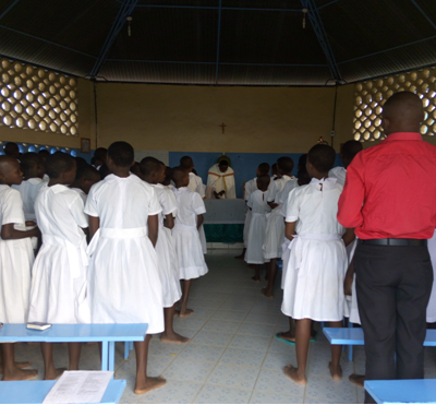 Pupils During Benediction on Sunday